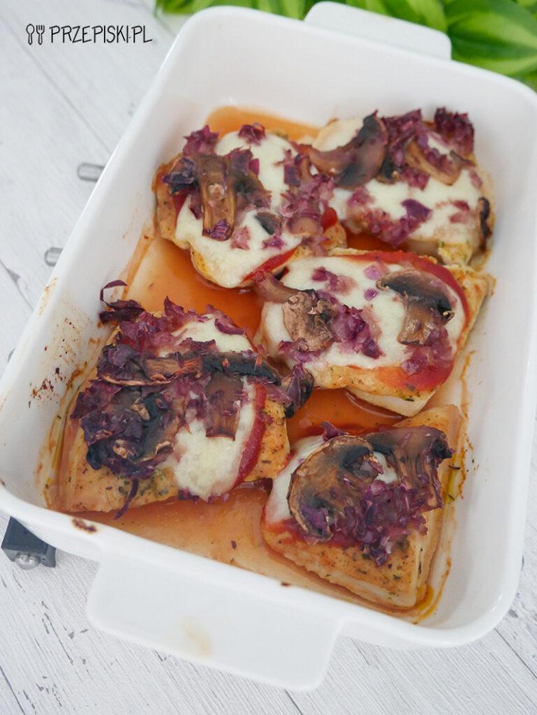 Kurczak z pieczarkami i mozzarellą